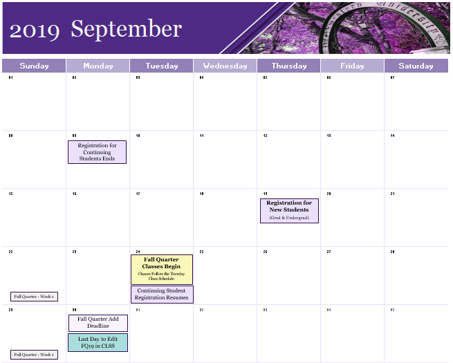 Scheduling Calendars & Deadlines: Office of the Registrar
